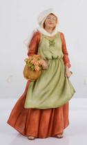 RIF578 Krippefigur Frau mit Blumen 40 cm groß 2021