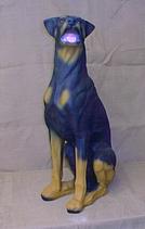 RIPS14 Dobermann Hund Figur lebensgroß mit Schlappohren
