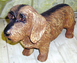 RIPS39 Rauhaardackel Hund Figur lebensgroß