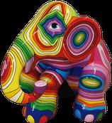RISCA003 Elefant Figur bunt