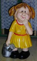 RIPO81 Mädchen Figur mit Gießkanne