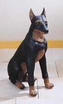 RIF183 Dobermann Hund Figur