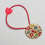 ヘアゴム 花柄ボタンC