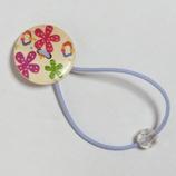 ヘアゴム 花柄ボタンA