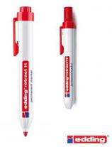 10 Feutres Edding permanent rétractable rouge Cod. 262033