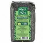 12 Lentilles vertes France paquet 1kg Grain de Frais
