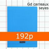1 CAHIER POLYPRO BLEU CALLIGRAPHE A4 GRANDS CARREAUX 192P SÉYÈS 90G