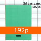 1 CAHIER POLYPRO VERT CALLIGRAPHE A4 GRANDS CARREAUX 192P SÉYÈS 90G