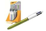 20 stylos BIC 4 couleurs shine Cod. 034008