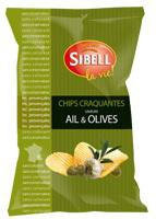 23 Chips ondulées ail & olives paquet 120g Sibell