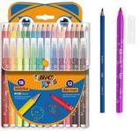 18 crayons de couleur + 12 feutres Kids Bic Cod. 147058