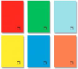 10 Cahiers agrafage 50F 1/4 règle large - 70 gr Cod. 099086