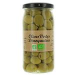 12 Olives vertes dénoyautées BIO pot 37 cl