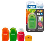 4 Taille-crayons gomme Milán 4 couleurs Cod. 132050