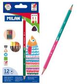 12 crayons de couleur 2 pointe triangulaire Cod. 147046