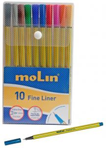 10 Feutres Fineliner couleurs 0,4 mm Cod. 270977
