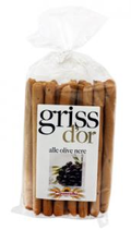 11 Gressin olive noire paquet 250g Griss d'or