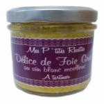 6 Délice de foie gras au vin blanc moelleux terrine 100g