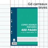 400 PAGES COPIES DOUBLES SEYÈS 70G PERFORÉES