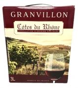 4 Vin Rouge Côtes du Rhône Granvillon Box 3 litres