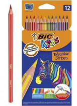 12 crayons de couleur Bic Kids stripes Cod. 147057