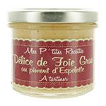 6 Délice de foie gras au piment d'Espelette terrine 100g