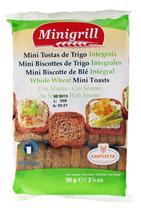 20 Mini biscottes au blé intégrale sachet 90g