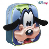 1 Goofy Sac à dos relief 3D et petites oreilles - 30x25 Cod. 072780