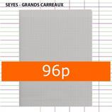 1 CAHIER POLYPRO GRIS CALLIGRAPHE A4 21X29,7 96P GRANDS CARREAUX SÉYÈS 90G