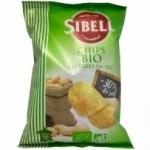 20 Chips BIO allégées en sel paquet 130g Sibell