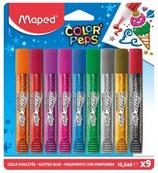 1 Étuis 9 tubes de colle paillettes Maped 16x18 Cod. 207068