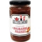 6 Confiture rhubarbe fraises pot 265g
