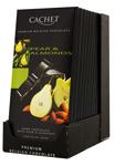 12 Chocolat noir poires & amandes tablette 100g