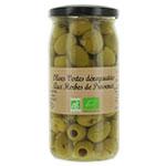12 Olives vertes dénoyautées Herbes de prov. BIO 37cl
