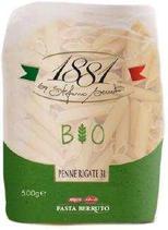 20 Pâtes italiennes Penne rigate BIO pqt 500g 1881