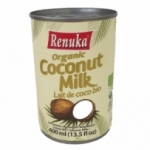 12 Lait de coco BIO boîte 400ml Renuka