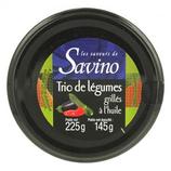 12Trio de légumes grillés à l'huile pot 225g Savino
