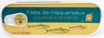 24 Filets de maquereaux moutarde conserve 169g