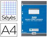 2000 PAGES COPIES DOUBLES CONQUÉRANT SEPT A4 210x297MM 70G SÉYÈS PERFORÉES
