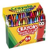64 crayons de cire Crayola 14x12 Cod. 146018