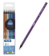 6 crayons de couleur métallisés Cod. 147049