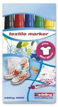 5 feutres Edding pour textile couleurs Cod. 261220