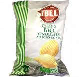 20 Chips ondulées BIO allégées en sel pqt 130g Sibell
