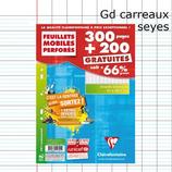 500P FEUILLES SIMPLES CLAIREFONTAINE A4 SÉYÈS PERFORÉES