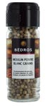 6 Poivre blanc en grains moulin 55g Bedros