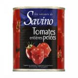 12 Tomate entière pélée au jus 4/4 SAVINO