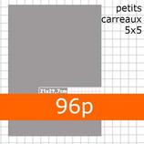 1 CAHIER 21 X 29,7 CM PETITS CARREAUX 5X5 96P 70G