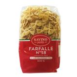 20 Pâtes Farfalle n°58 pqt 500g Savino Pasta
