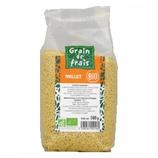 10 Millet décortiqué BIO paquet 500g Grain de Frais