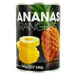 24 Ananas en tranches au sirop boïte pne 340g